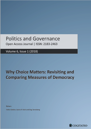 Publikation: Lauth, Hans-Joachim und Oliver Schlenkrich. 2018. Making Trade-Offs Visible: Theoretical and Methodological Considerations about the Relationship between Dimensions and Institutions of Democracy and Empirical Findings. Politics and Governance 6 (1): 78–91.